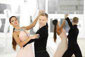 image of ballroom dancing  - Ballroom dance in motion - JPG