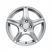 picture of alloy  - Car alloy wheel on white background - JPG