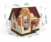 ������, ������: Construction House Plan Design Blend Transition Illustration Construction Process With Dimension
