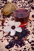 picture of hibiscus  - Hibiscus tea  - JPG