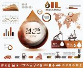 foto of process  - oil and gas industry infographics extraction processing and trasportation - JPG