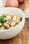 picture of cilantro  - Potato salad freshly homemade without mayonaise - JPG