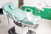 image of gynecological  - Gynecological chair in gynecological room - JPG