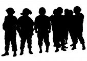 foto of special forces  - People of special police force on white background - JPG