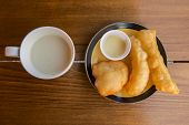pic of soybean milk  - soybean milk with deep - JPG