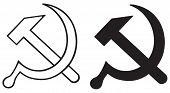 stock photo of communist symbol  - Sign of the hammer and sickle - JPG