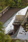 stock photo of dam  - Dolymynach Dam part of the Elan Valley Dams - JPG