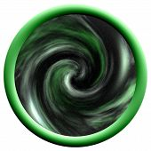 Large Green Round Space Button