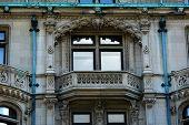 Detail Of Elaborate Mansion Windows