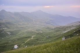 pic of apennines  - Panorama of Italian Apennines near the mountain called the Horn of the stairs near the town of Lizzano in Belvedere during a sunny day - JPG