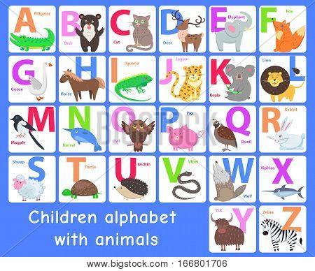 Children alphabet with