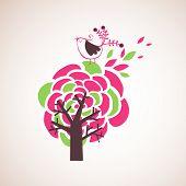 árvore e pássaros