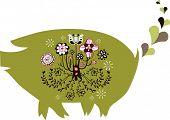 green piggy