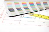 Architectural Plan And Color Guide poster