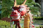 Chinese dragon statue in Macau China