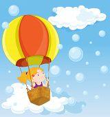 illustration of a hot air balloon