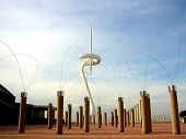 Calatrava's Olympic Telecommunications Tower, Anella Olimpica (olympic Ring), 1992 Olympics Barcelon
