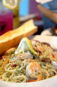 Shrimp Spaghetti With Lemon Garlic Butter Sauce poster