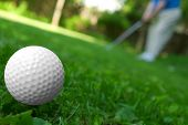 Golf Ball Close-Up