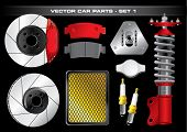 Vector Car Parts-Set 1
