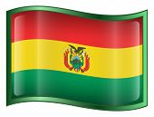 Bolivia Flag Icon. (With Clipping Path)