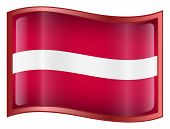 Latvia Flag Icon. (With Clipping Path)
