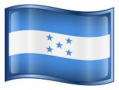 Honduras Flag Icon. (With Clipping Path)