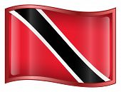 Trinidad And Tobago Flag Icon. (With Clipping Path)