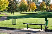 Golf Tee Box And Bench