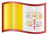 Vatican Flag Icon. ( With Clipping Path )