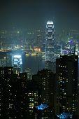 Nachtaufnahme von Hong Kong