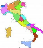 Italy Vector Map Administrative Boundaries.Eps
