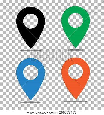 Location Pin Icon On Transparent