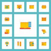 Set Of Development Icons Flat Style Symbols With Website Slider, Best Quality Website, Website Image poster