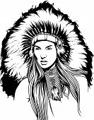 Indian Man Headdress Mascot Native Traditional American Culture poster