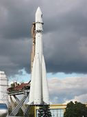 Famous Vostok rocket in Moscow