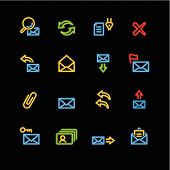 Neon E-Mail Icons