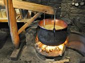 image of household farm  - Making of Swiss cheese - JPG