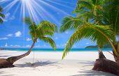 Sun beach and sea