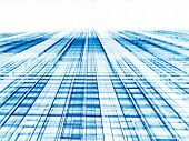 Abstract Perspective Tech Or Business Background - Digitally Gen poster