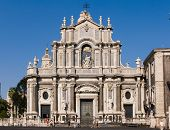 cathedral of Santa Agatha in Catania (front view