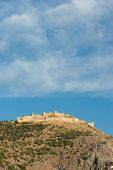 image of argo  - The imposing ruins of the fortress of Larissa in Argos - JPG
