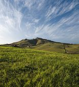 slope grassy on sicilian hinterland hills