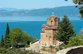Saint John at Kaneo is a macedonian orthodox church situated on Lake Ohrid in the city of Ohrid, Rep