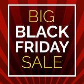 Black Friday Big Sale Concept Background. Cartoon Illustration Of Black Friday Big Sale Vector Conce poster