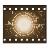Blank film countdown in sepia design