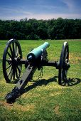 stock photo of rebs  - Battery Heights Napoleon 12 lb cannon Manassas National Historical Battlefield [Bull Run battle] Virginia