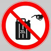 do Not Fill Into Containers. do Not Fill In Cans. do Not Refill In Cans poster