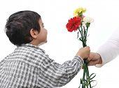 Kid giving gift