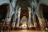 St. Patrick's Cathedral interior sanctuary in Dublin, Ireland.